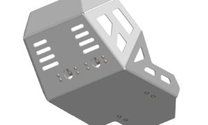 A040360 - Honda Bash Plate - Silver