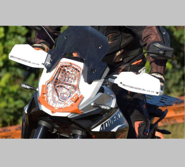 A080272 - KTM Head Light Guard - Mesh Type KTM Orange