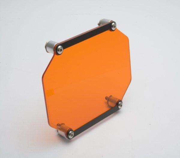 A090091 - BMW Headlight Guard Clipon Lens - Orange