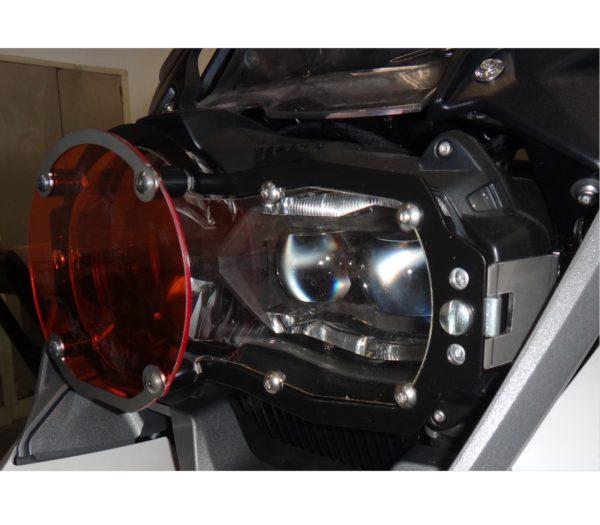 A090675 - BMW Head Light Guard - Orange Clip-on Lens