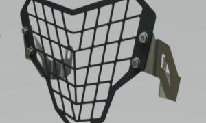 A090926 - BMW Headlight Guard Black - Grid Type