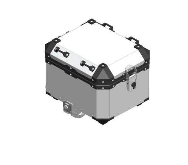A110810 - Motorradical Top Box Slide Lock - Silver (Top Box Bracket Required)